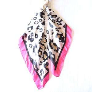 Animal Print Scarf and Scrunchie